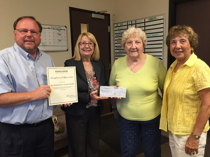St. Bernadette's Ladies Guild held a fundraiser and raised $1,000.