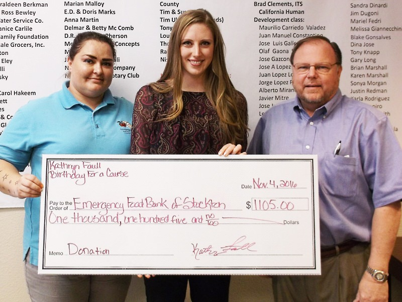Katheryn Faull organized a Birthday for a Cause and raised over $1,000 for the EFB.
